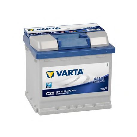 Acumulatori auto Varta - Blue Dynamic 52 Ah EN 470 bornă normală (C22) 552400047 3132